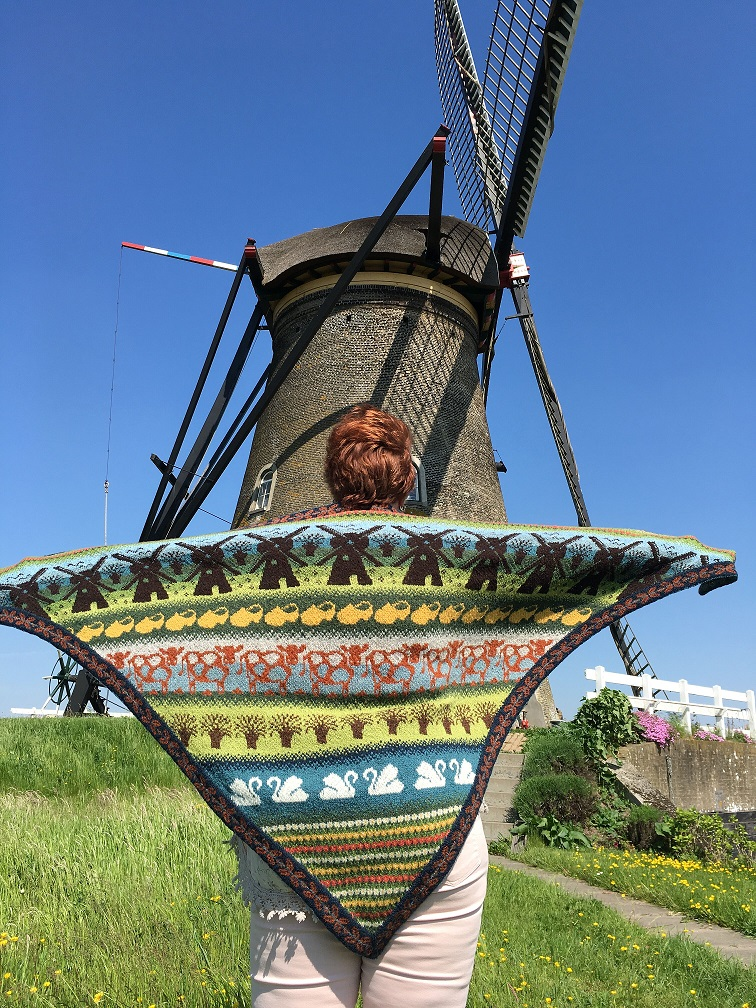 Foto 2a Kinderdijk shawl