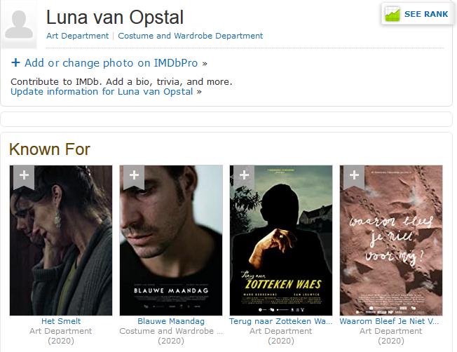 Luna van Opstal op IMDb